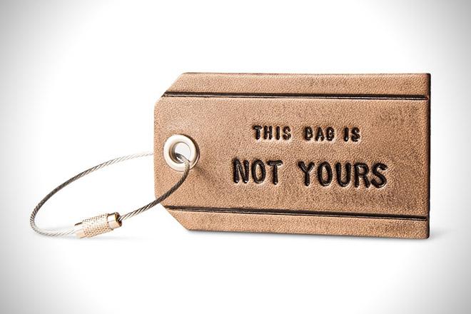Owen & Fred Leather Bag Tag