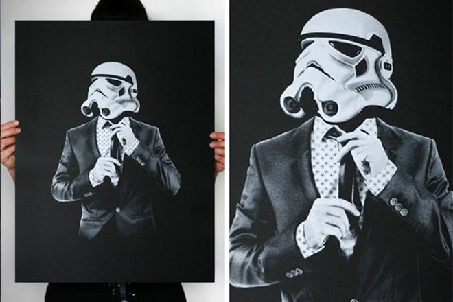 Storm Trooper Smart Trooper Print