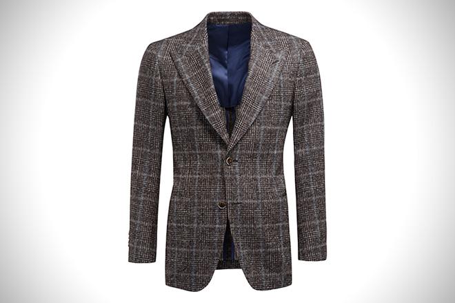 SuitSupply Washington Brown Check Blazer