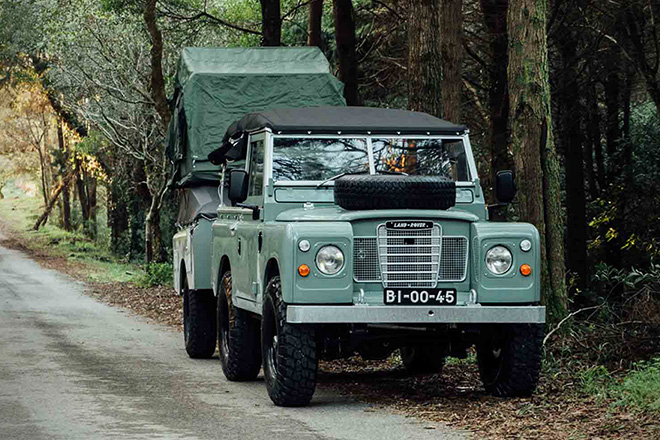 1982 land rover series 3 with camping trailer hiconsumption. Black Bedroom Furniture Sets. Home Design Ideas