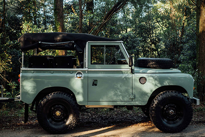 1982 Land Rover Series 3 With Camping Trailer Hiconsumption