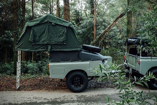 1982 Land Rover Series 3 with Camping Trailer 4