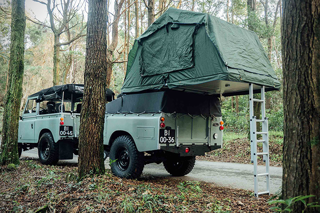 1982 Land Rover Series 3 with Camping Trailer 7