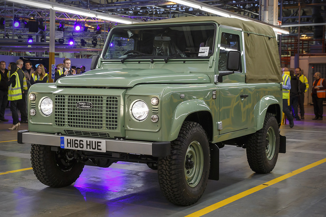 The Last Land Rover Defender Manufactured 2