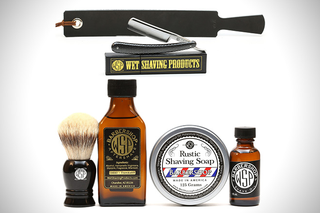 Wet Shaving Products Deluxe Straight Razor Kit