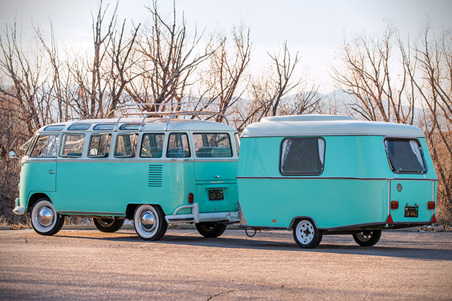 1963 Volkswagen 23-Window Microbus With Camping Trailer 14