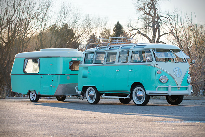 1963 Volkswagen 23-Window Microbus With Camping Trailer 2