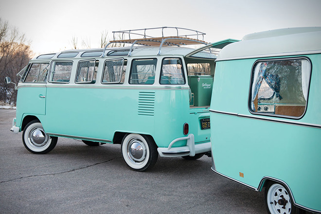 1963 Volkswagen 23-Window Microbus With Camping Trailer 9