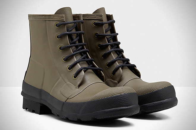Hunter Original Rubber Lace-Up Boots1