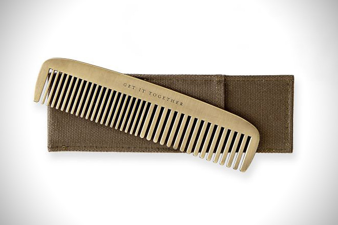 Mark and Graham Brass Comb