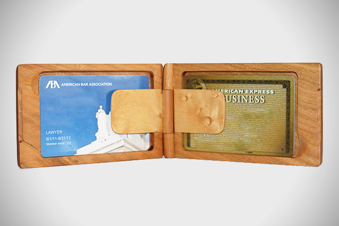 Rogue Industries Cherry + Birdseye Maple Wood Wallet