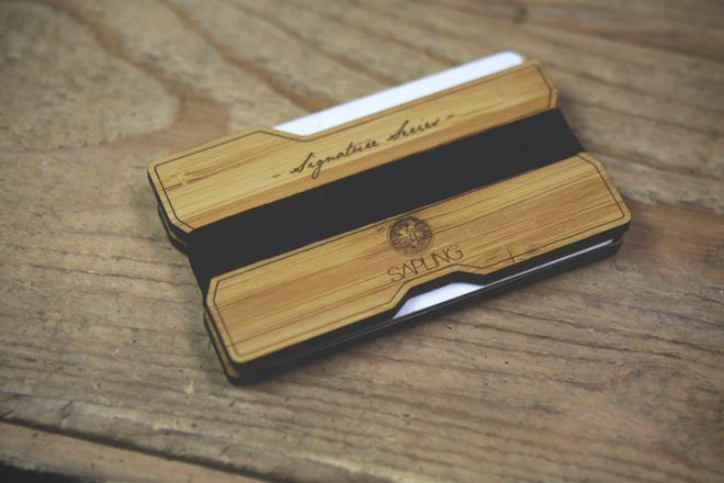 Sapling Signature Series Wood Wallet