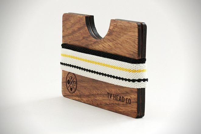 TV Head Co. Minimalist Wooden Wallet