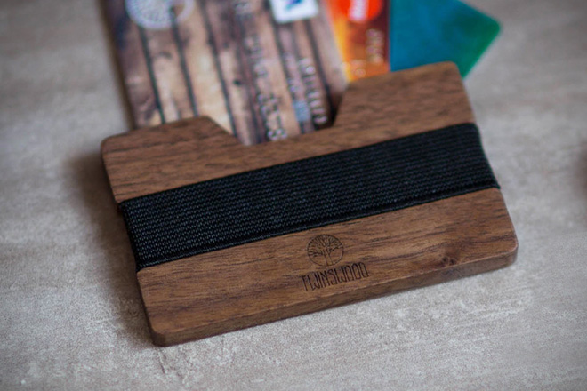 Twin Woods Company Wooden Wallet