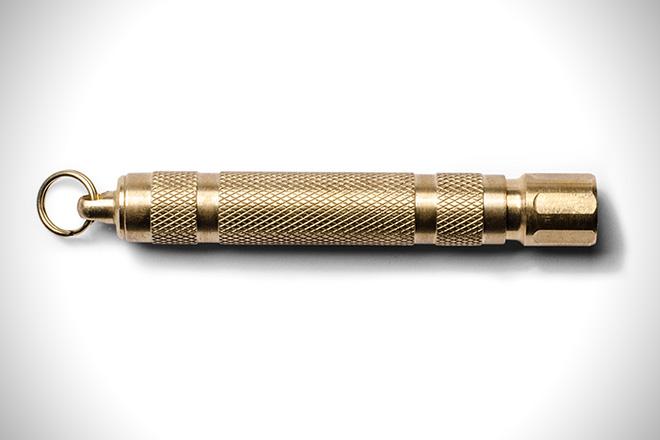 Brass LED Keychain Flashlight