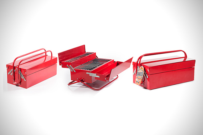 Stainless Steel BBQ Toolbox 2