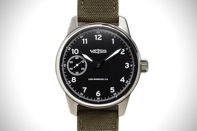 Weiss Standard Issue Field Watch Black Dial