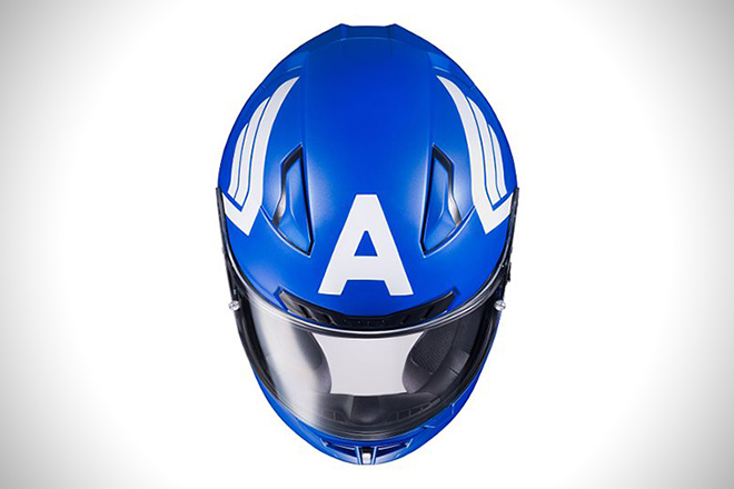 Captain America Motorcycle Helmet By Hjc Hiconsumption
