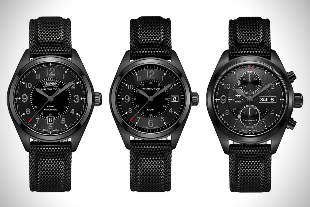 Hamilton Khaki Field Black Watches