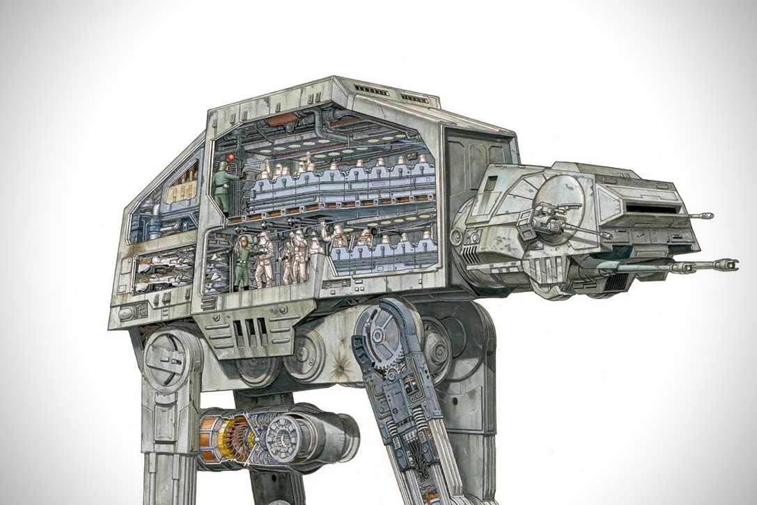 Incredible Cross Sections of Star Wars by David Reynolds 3