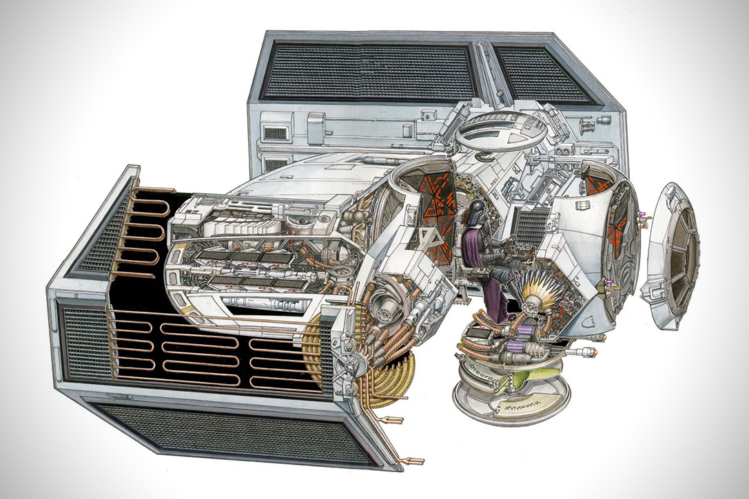 Incredible Cross Sections of Star Wars by David Reynolds 6