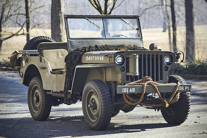 1943 Willys Jeep With Trailer 03