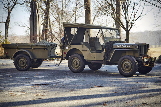 1943 Willys Jeep With Trailer 10