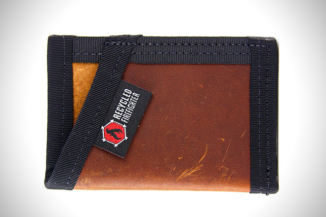 Recycled Firefighter Full Grain Leather Wallet