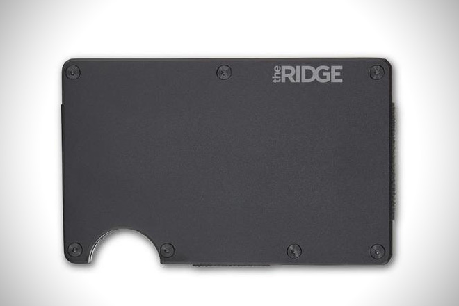 The Ridge Aluminum Wallet and Cash Strap