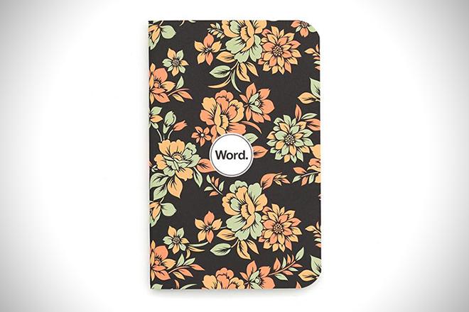 Word Floral Pocket Notebook