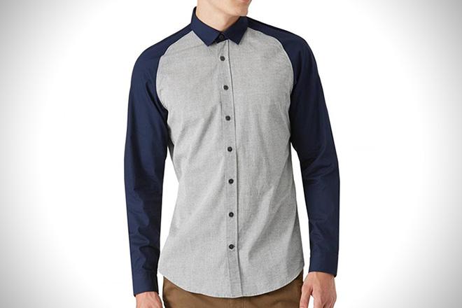 Frank and Oak Colorblock Shirt