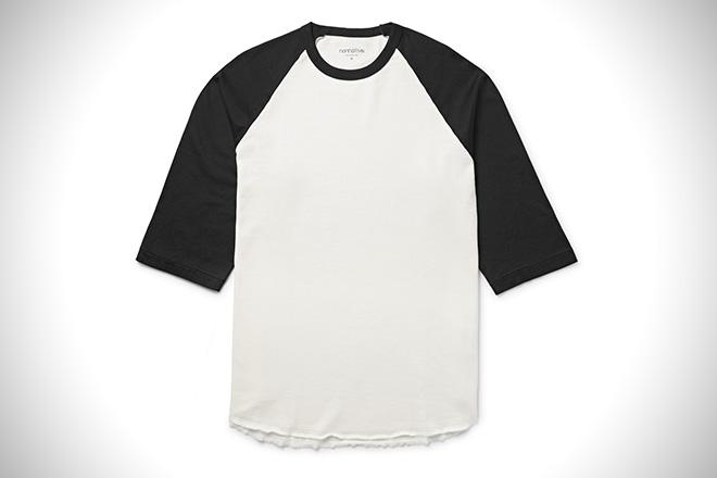 NONNATIVE Dweller Two Tone Cotton Jersey T Shirt