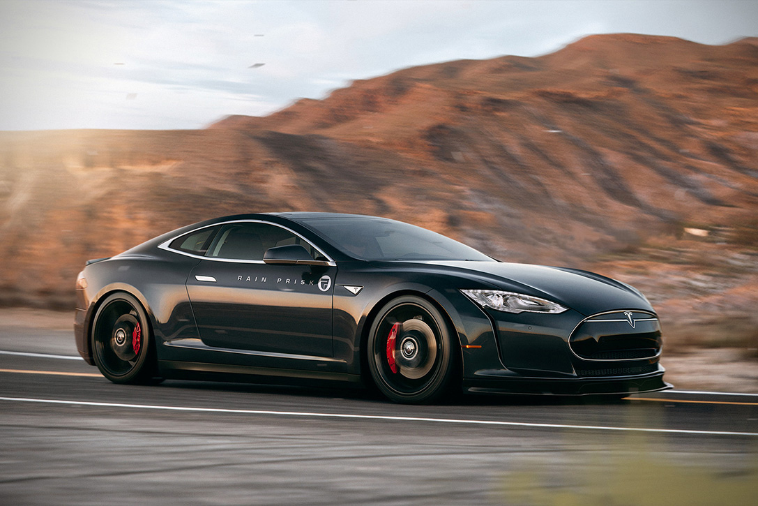 Tesla Model S Coupe Concept Hiconsumption