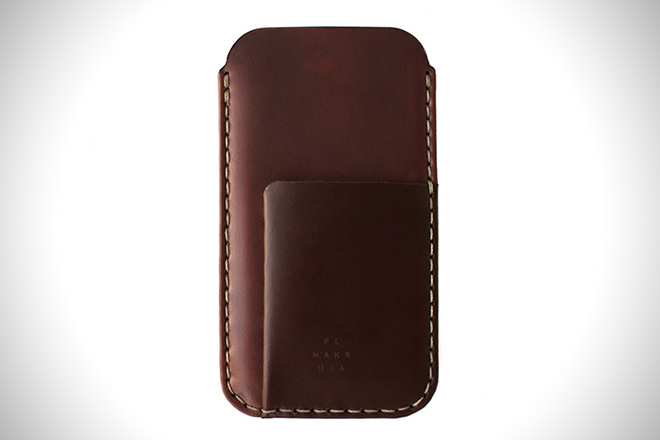 iPhone 7 Card Sleeve Horween Shell Cordovan Leather