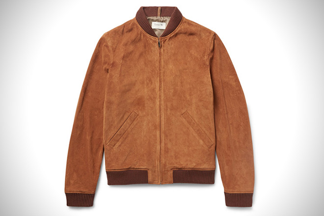 A.P.C Louis W. Suede Bomber Jacket
