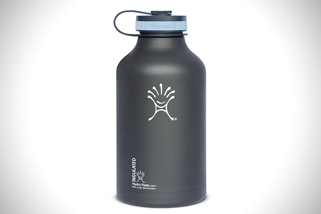 Hydro Flask Insulated Stainless Steel Wide Mouth Water Bottle and Beer Growler