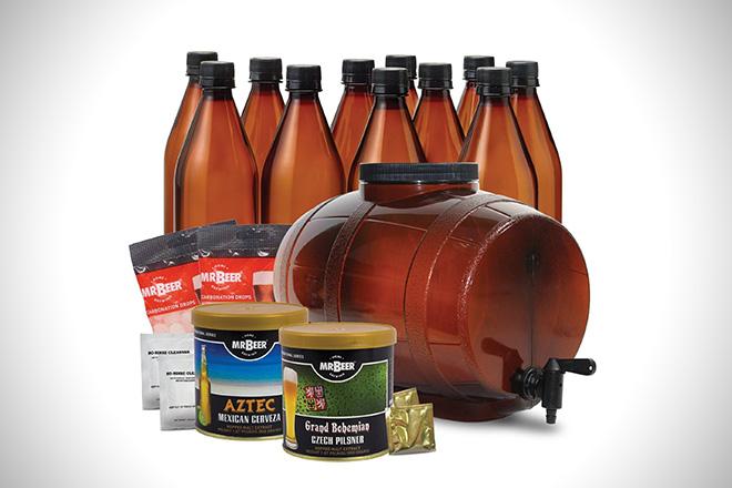 Mr Beer Premium Gold Edition Homebrewing Craft Beer Making Kit
