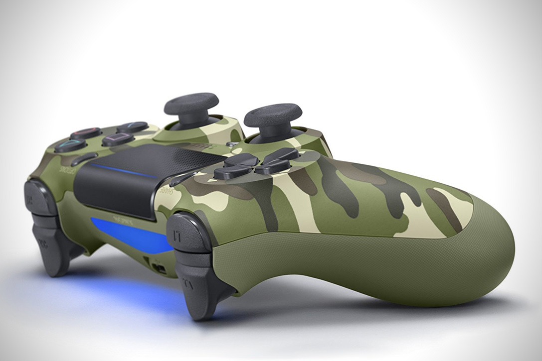 Playstation DualShock 4 Green Camouflage Controller 2