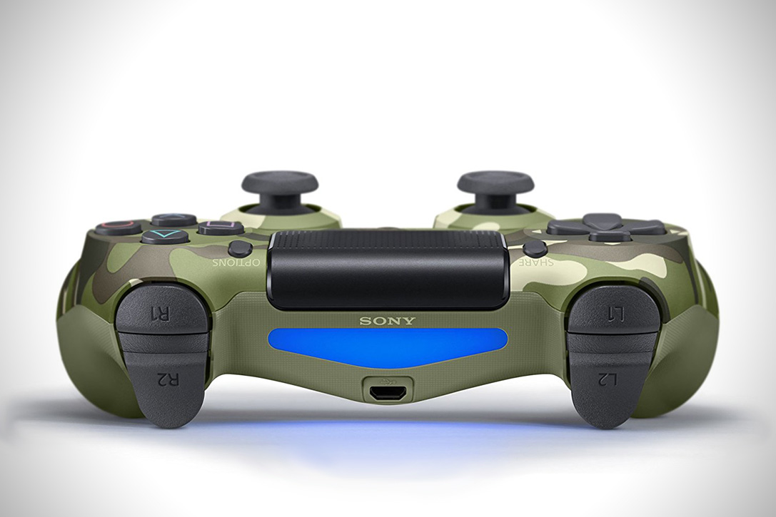 Playstation DualShock 4 Green Camouflage Controller 3