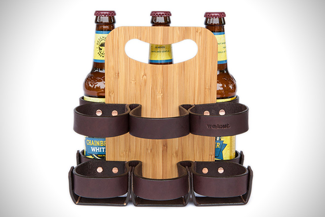 Spartan Carton Leather Six Pack Carrier