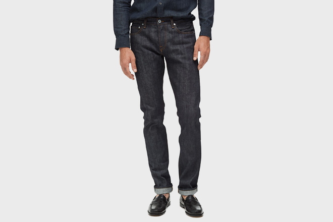 henley in raw selvage