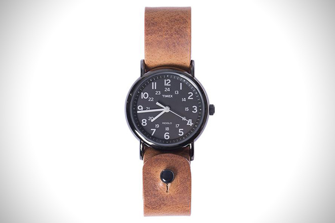 Form Function Form Horween Leather Timex Weekender