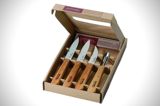 Opinel Les Essentiels Natural Beechwood Knives