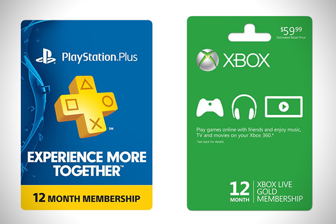 Playstation Plus Xbox Live Membership