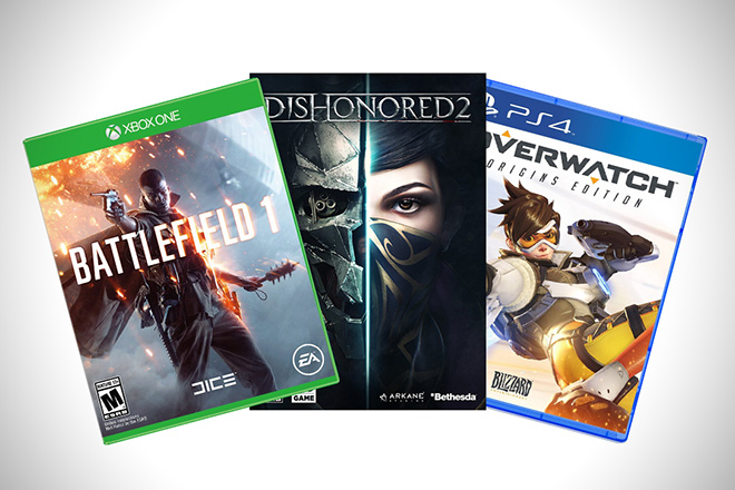 Video Games Battlefield Dishonored Overwatch PS4 PC Xbox One
