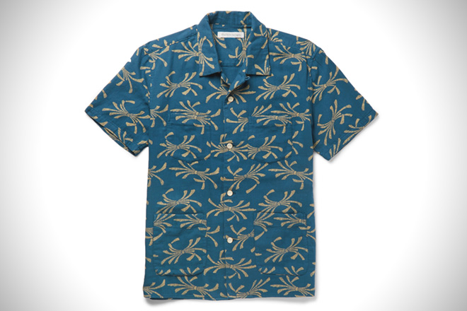 5c6145607ea Outerknown Camp-Collar Printed Shirt