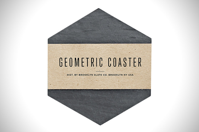 Brooklyn Slate Co Geometric Coaster