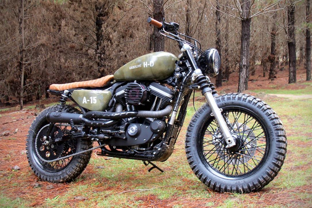 Cafe Racer Tank For Harley Davidson