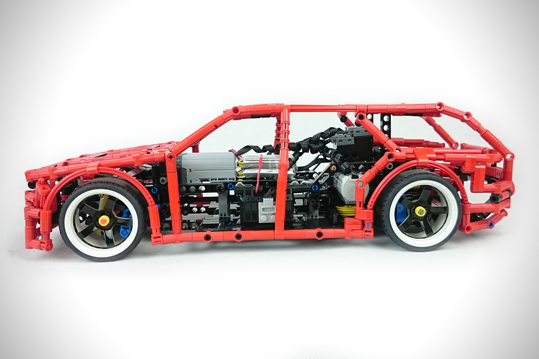 lego technic drift wagon hiconsumption. Black Bedroom Furniture Sets. Home Design Ideas