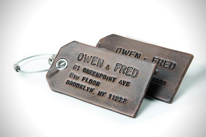 Owen and Fred Luggage Tags